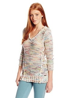 Roxy Juniors White Shores Hooded Pull On Sweater