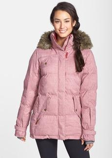 Roxy 'Quinn' Faux Fur Trim Quilted Coat