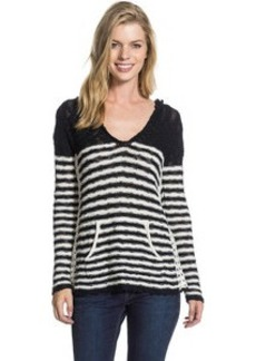 Roxy White Caps Stripe Pullover Hoodie - Women's