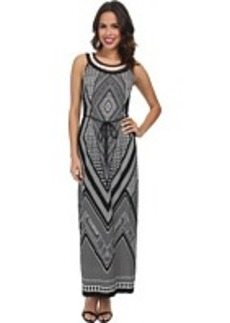 rsvp Printed Necklace Maxi Dress