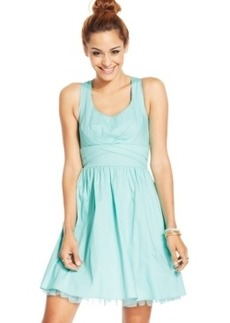Ruby Rox Juniors Dress, Sleeveless Bow A-Line