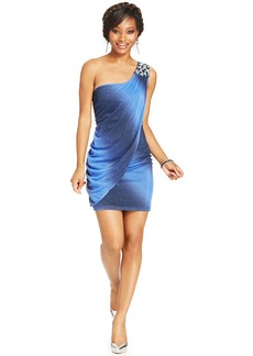 Ruby Rox Juniors' One-Shoulder Ombre Dress