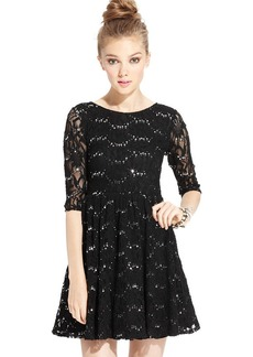 Ruby Rox Juniors' Sequin Lace Dress