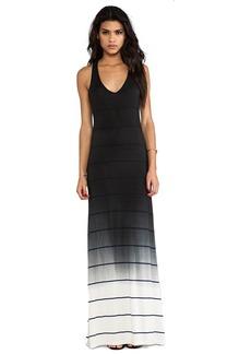 Saint Grace Bryn Ombre Stripe Jersey Dress in Black