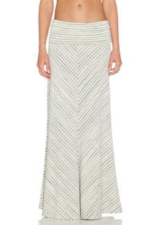 Saint Grace Chevron Maxi Skirt