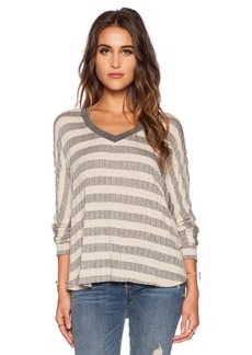 Saint Grace Compass Loom Stripe Oversized Top