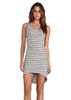Saint Grace Jo Moby Stripe Dress in Gray