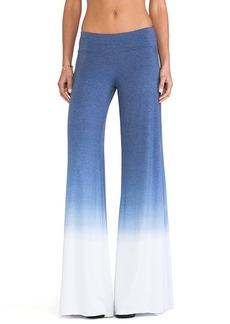Saint Grace Wide Leg Sunset Jersey Pant in Blue