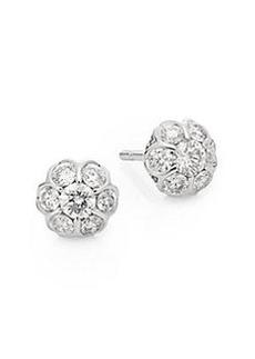 Saks Fifth Avenue 0.49 TCW Diamond & 14K White Gold Stud Earrings