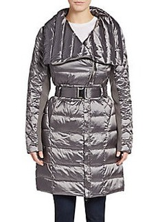 Saks Fifth Avenue Belted Nylon Coat