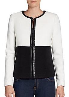 Saks Fifth Avenue BLACK Felted Cropped Jacket