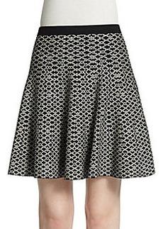 Saks Fifth Avenue BLACK Jacquard Skater Skirt