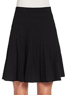 Saks Fifth Avenue BLACK Knit Circle Skirt