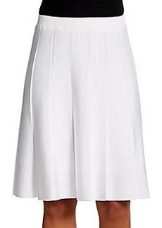 Saks Fifth Avenue BLACK Pleated A-Line Skirt