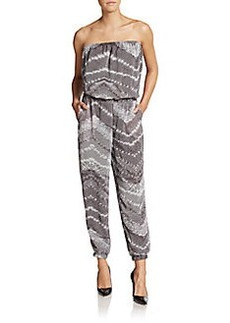 Saks Fifth Avenue BLACK Printed Strapless Jumpsuit