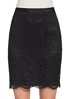Saks Fifth Avenue BLACK Scalloped-Hem Lace Skirt