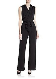 Saks Fifth Avenue BLACK Sleeveless Tie-Waist Jumpsuit