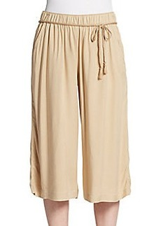 Saks Fifth Avenue BLUE Belted Crepe Culottes