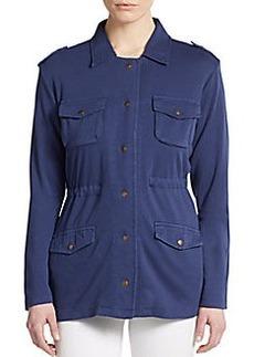 Saks Fifth Avenue BLUE Cotton Utility Jacket