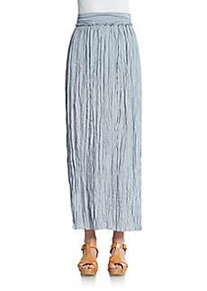 Saks Fifth Avenue BLUE Crinkle Maxi Skirt