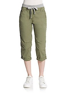 Saks Fifth Avenue BLUE Cropped Poplin Pants