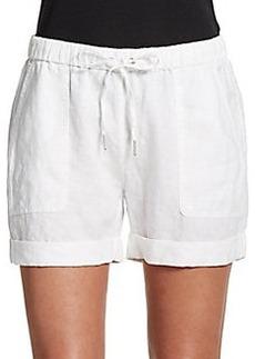 Saks Fifth Avenue BLUE Cuffed Linen Shorts