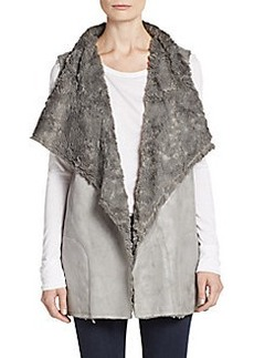 Saks Fifth Avenue BLUE Faux-Shearling Vest
