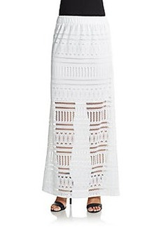 Saks Fifth Avenue BLUE Lace Maxi Skirt