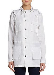 Saks Fifth Avenue BLUE Linen Utility Jacket