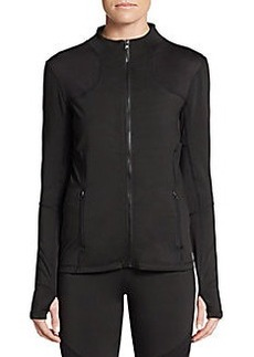 Saks Fifth Avenue BLUE Mesh Inset Zip Jacket