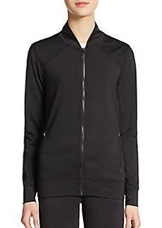 Saks Fifth Avenue BLUE Mockneck Zip Performance Jacket