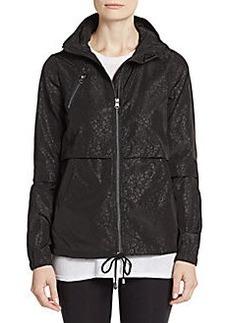Saks Fifth Avenue BLUE Packable Animal Print Hooded Jacket