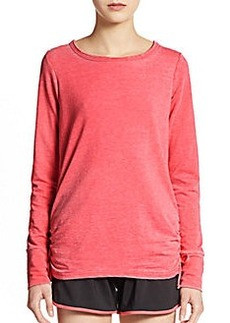 Saks Fifth Avenue BLUE Ruched Side Sweater