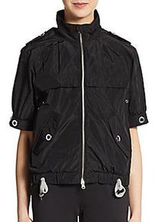 Saks Fifth Avenue BLUE Short-Sleeve Zip Sport Jacket