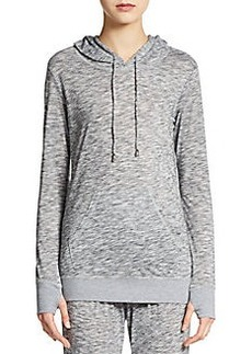 Saks Fifth Avenue BLUE Space-Dyed Hooded Pullover