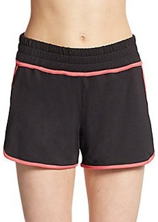 Saks Fifth Avenue BLUE Stretch-Jersey Track Shorts