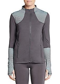 Saks Fifth Avenue BLUE Striped Panel Zip Jacket