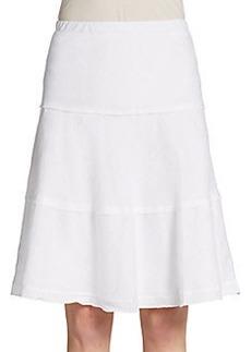Saks Fifth Avenue BLUE Tiered Linen Skirt