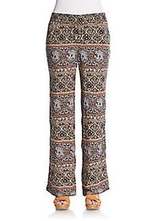 Saks Fifth Avenue BLUE Tile-Print Woven Pants