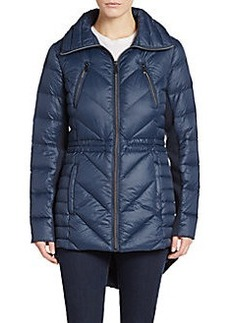 Saks Fifth Avenue Chevron-Quilted Nylon Coat