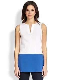 Saks Fifth Avenue Collection Bi-Color Sleeveless Tunic