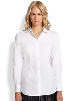 Saks Fifth Avenue Collection Button-Front Harness Shirt