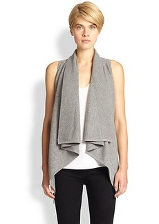 Saks Fifth Avenue Collection Cashmere Waterfall Vest