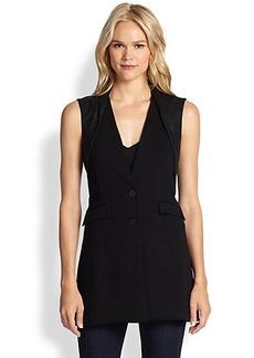 Saks Fifth Avenue Collection Contrast-Detail Vest