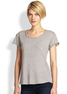 Saks Fifth Avenue Collection Crewneck Cuffed Muscle Tee