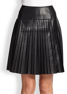 Saks Fifth Avenue Collection Faux-Leather Pleated Skirt