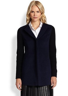 Saks Fifth Avenue Collection Knit Contrast-Detail Jacket