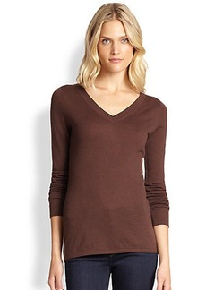 Saks Fifth Avenue Collection Knit V-Neck Sweater