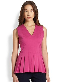 Saks Fifth Avenue Collection Pleated Peplum Top