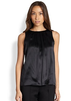 Saks Fifth Avenue Collection Pleated Silk Blouse